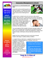 Concussion Management In Schools